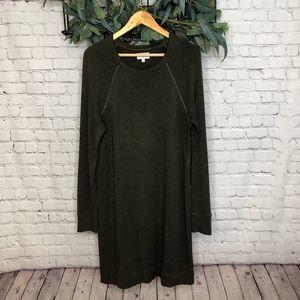 Lou and Grey Green Sweatshirt Sheath Dress